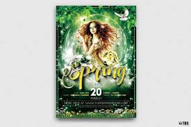 Green Spring Party Flyer Template Psd For Photoshop V2