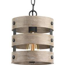 1 light graphite drum pendant gulliver with durable weathered gray wood accents 142 78 advanced search for progress lighting chandelier