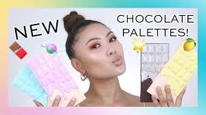 i heart revolution new chocolate eyeshadow palettes swatches tutorial