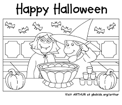 Arthur Halloween Pbs Kids Coloring Pages Pbs Chronicles Network