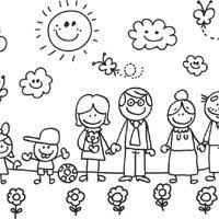 Small Picture My Family Coloring Page Coloring Coloring Pages
