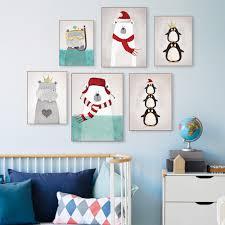 ... Paint Ideas For Kids Rooms Modern Nordic Kawaii Bear Hippo Bird Animal  A4 Art Prints Poster ...