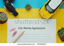 Car Rental Agreement Document Contract Key Stock Photo (Download Now ...