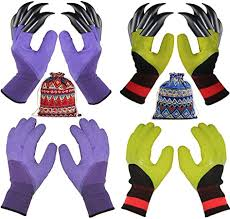 4 Pairs Garden Gloves With Fingertips Claws, Best ... - Amazon.com