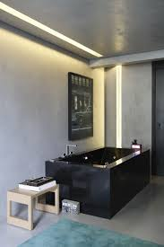 bathroom lighting design ideas. modern fibe bathroom lighting design using warm white lumilum strip lights and glass or plexiglass ideas