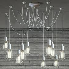 10 light light cable chandelier in white celeste 10 light drop crystal chandelier