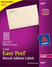 Avery Easy Peel Clear Return Address Labels 5667