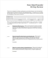 new hire review form 25 review forms in word