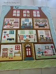 TAPIZ GALLINERO https://www.facebook.com/bernapatch | Made in ... & Furball Farm: Doll's House close up of quilting Adamdwight.com