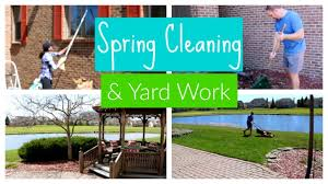 Spring Cleaning & Yard Work | Clean with Me Outside Edition