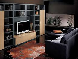 Tv Room Decorating Ideas White Wall Light Black Leather Cushion Varnished  Wood Table Lamp Awesome Lounge