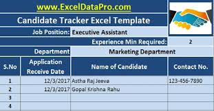 Download Job Candidate Tracker Excel Template Exceldatapro