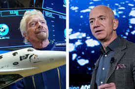 Richard Branson and Jeff Bezos Race ...
