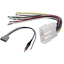 amazon com car stereo cd player wiring harness radio antenna wiring harness stereo car stereo cd player wiring harness radio antenna adapter cable aftermarket radio for select nissan