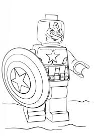 Lego Captain America Coloring Page From Lego Super Heroes Category