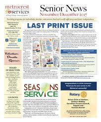 Metrocrest Services Senior News November December Edition By