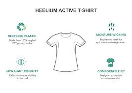 Jchc My Chart Heelium Womens Recycled Polyester T Shirt For Sports Gym Half Sleeve Moisture Wicking Quick Dry Stretchable Round Neck Dri Fit Athletic