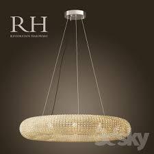 rh crystal halo chandelier 41