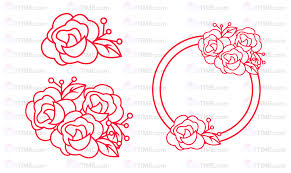 Drawpad graphic editor lets you edit svg files for free. Free Rose Svg File Decorative Rose Svg Round Wreath Svgtime Single Line