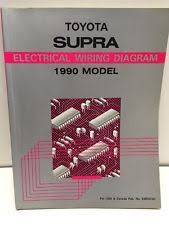 toyota supra wiring diagram 1990 oem factory toyota supra electrical wiring diagram book