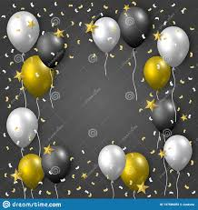 Realistic Celebration Vector Template With Golden Silver