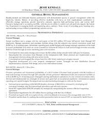 Pleasant Sample Of General Manager Resume On Resume Restaurant