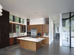 Concrete Floors Kitchen Kitchen Open To Dining Room Concrete Floors In Homes Interior