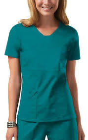 Details About Teal Cherokee Workwear Core Stretch V Neck Scrub Top 24703 Tlbw