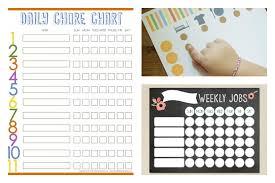 10 Cool Printable Chore Charts Cool Mom Picks