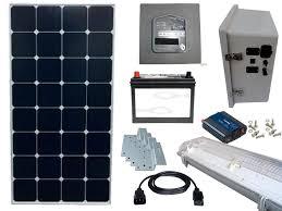 25W OffGrid Solar Lighting System With 4 X 5W LED Lights Solar Solar Garage Lighting