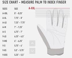 Batting Glove Size Chart Franklin Louisville Slugger Youth Batting Glove Size Chart Images