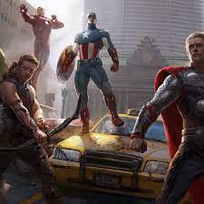 2932x2932 Marvel Heroes 8k Ipad Pro ...