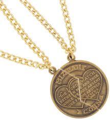 necklace f set new mizpah coin best friends genesis pendant gold tone thumbnail 3