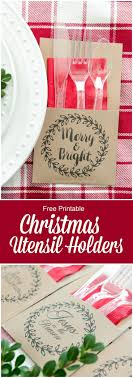 Free Printable Christmas Utensil Holder. Christmas Party Decorations ...