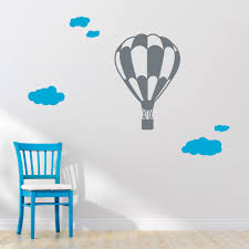 Wall Art Design Ideas, Child Imagination Hot Air Balloon Wall Art Playful  Surrounded Soar Interior