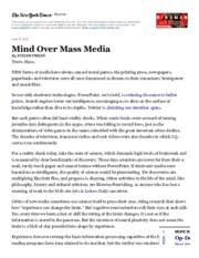 mind over mass media mind and media is google making us stupid  2 pages mind>mass media