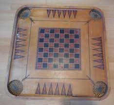 Antique Wooden Game Boards Carrom Gameboard Silverfish 24