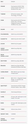 2020 Bmc Teammachine Slr01 Disc Three Specifications