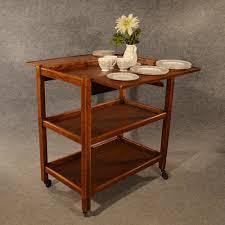 antique oak serving trolley side table tea butler stand buffet edwardian c1910