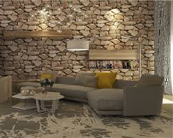 Beibehang Vintage Simulation Stone Wall Paper Coffee Shop Bar