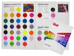 Siser Color Chart Siser Heat Transfer Vinyl Color Chart