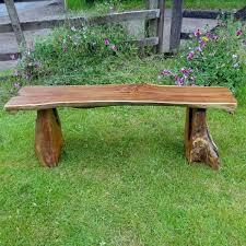 teak root backless garden bench 140cm 2