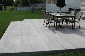 backyard concrete patio pictures