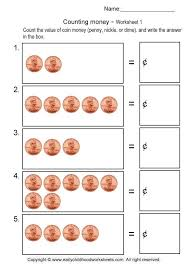 Coin Worksheets For Kindergarten Worksheets for all | Download and ...