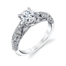 sylvie solire round brilliant diamond enement ring