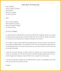 Letter To Terminate Contract With Supplier Termination Of Service Letter Template End Contract Notice