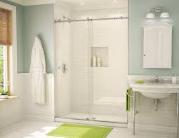 barn style frameless shower door