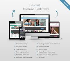 moodle templates moodle theme gourmet a new responsive moodle theme elearning themes