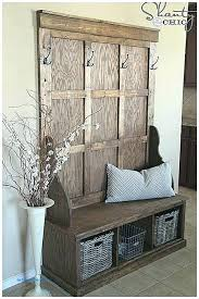 Bench With Storage And Coat Rack Entryway Bench With Coat Rack Front Entry Bench With Hooks Shoe 11