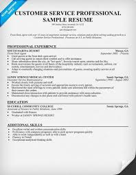 Sample Resumes For Customer Service Representative Customer